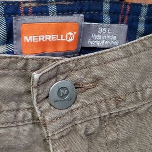 Merrell Brown Hiking Cargo Pants Mens Size 36x29